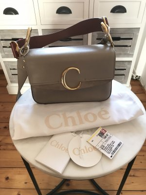 Wunscherschöne Chloé C Bag in Motty Grey