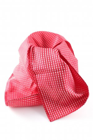 Pocket Square red allover print business style