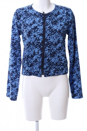 Blouson blue abstract pattern business style