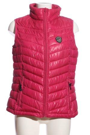 X-Land Gewatteerd vest roze quilten patroon casual uitstraling