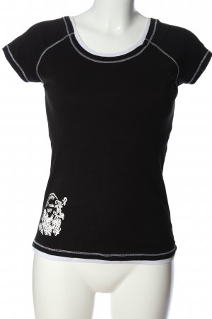 X-Mail Basic-Shirt schwarz Motivdruck Casual-Look