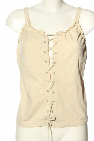 X-Mail Bustier Top nude casual look