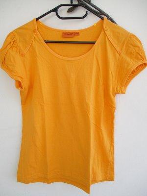 T-shirt arancione chiaro Cotone