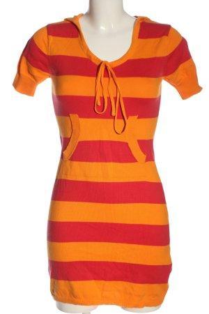 X-Mail Robe à capuche orange clair-rouge imprimé allover style décontracté