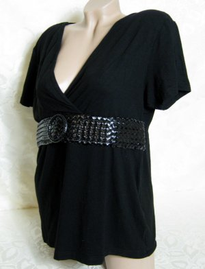 X-Mail V-Neck Shirt black