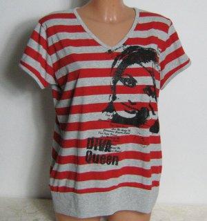 X-MAIL Shirt Größe XL Rot Grau Kurze Ärmel