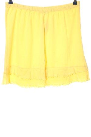 X-Mail Spódnica z falbanami bladożółty W stylu casual
