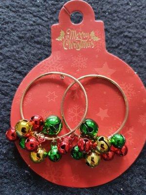 Merry Christmas Pendientes de cuentas multicolor