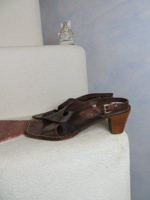 X-Strap Progetto Italy - Gr. 39 - Boho Dunkelblaun - 100% Echtleder Riemchen Sandalette