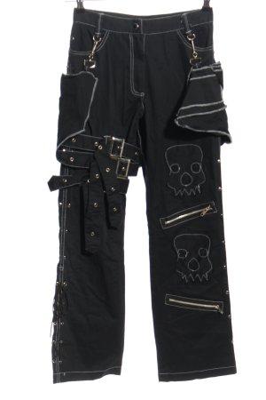 X-Trax Pantalone cargo nero-bianco stile casual