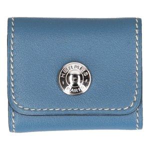 X30003 Hermès Etui für Haftnotiz-Zettel aus Leder in blau