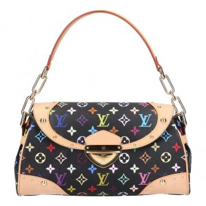 X30039 LOUIS VUITTON BEVERLY MM SCHULTERTASCHE AUS MONOGRAM MULTICOLORE CANVAS IN NOIR