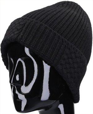 X30123 Louis Vuitton Damier Strick Mütze aus weicher Wolle in schwarz
