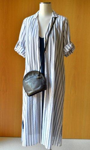 XACUS DONNA 40 oversize Leinen Maritim Hemdkleid Blau Weiß Streifen Leinenkleid Sommer