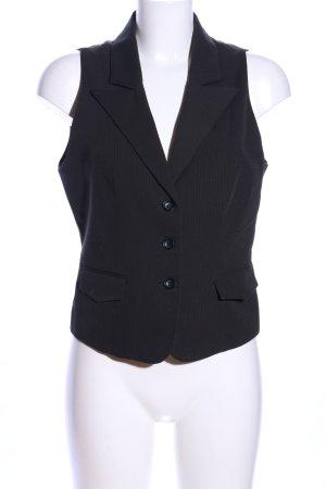 Xanaka Anzugweste schwarz Streifenmuster Business-Look