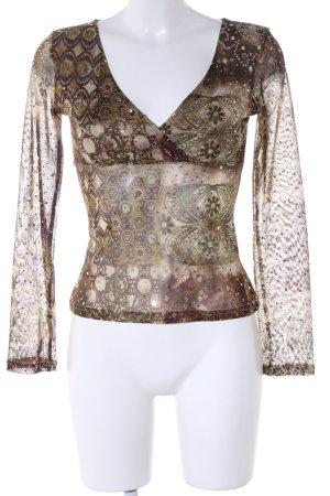 Xanaka Chemisier bronze-blanc cassé motif de fleur style d'affaires