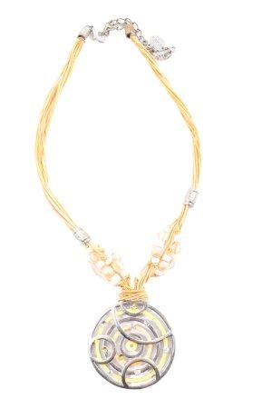 Xanaka Collar estilo collier amarillo pálido-color plata look casual