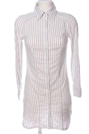 Xanaka Hemdblusenkleid weiß-hellgrau Streifenmuster Casual-Look