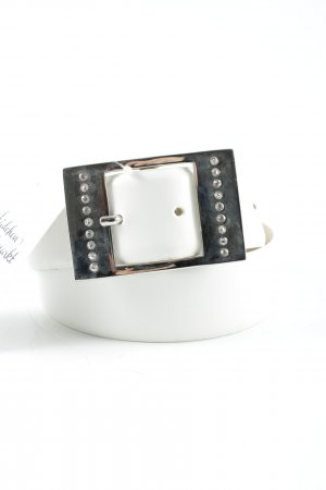 Xanaka Faux Leather Belt silver-colored glittery