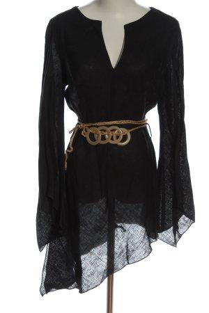 Xanaka Blusa in lino nero stile casual