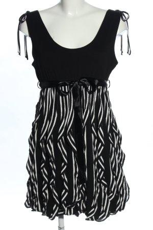 Xanaka Minikleid schwarz-weiß Streifenmuster Elegant