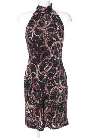 Xanaka Neckholderkleid schwarz abstraktes Muster Casual-Look
