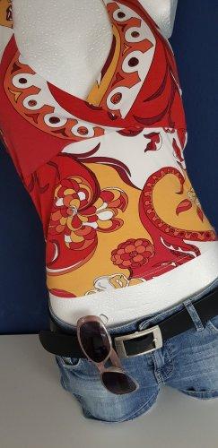 Xanaka Top estilo halter multicolor