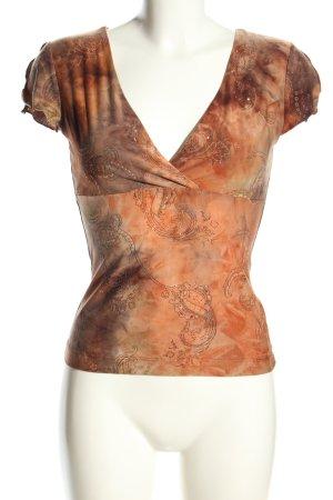 Xanaka V-Ausschnitt-Shirt Farbverlauf Casual-Look