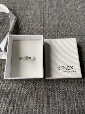 XENOX Anillo de plata color plata