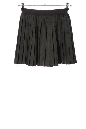 Xhilaration Spódnica marszczona jasnoszary Wzór w paski W stylu casual