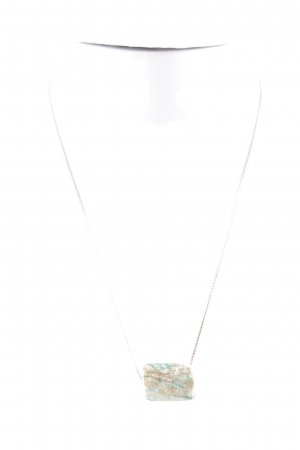 Necklace cream-turquoise color gradient casual look