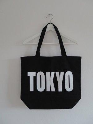 Stoffen tas zwart-wit Katoen