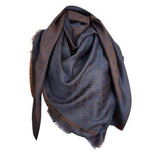 Gucci Zijden doek donkerblauw-brons Wol