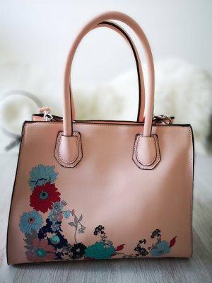⋙•-•-•-•➤XL Handtasche mit zartem Blumen Print - Neu m. Etikett ◉
