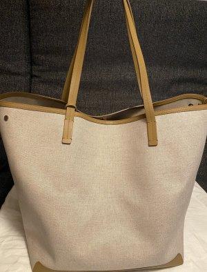 The row Borsa shopper beige chiaro-color cammello Lino