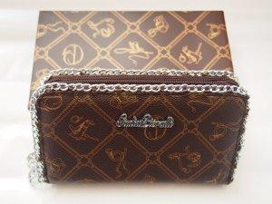 XL Portemonnaie braun silber mit Geschenkverpackung
