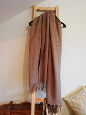 Pieces Knitted Scarf grey brown-beige