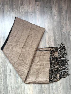 H&M Bufanda de lana negro-beige