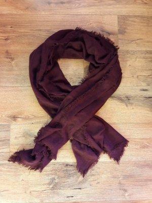 Gebreide sjaal bordeaux-braambesrood