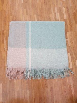 Bufanda de lana rosa-menta