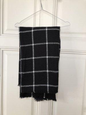 XL-Schal schwarz weiß