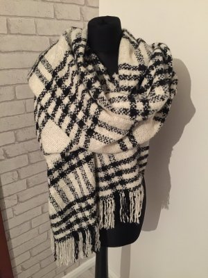 H&M Knitted Scarf white-black