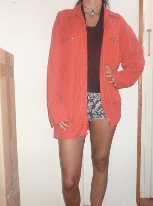 XL Seidenhemd Bluse rot