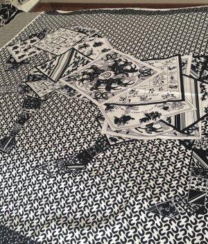 Foulard en soie noir-blanc