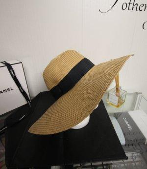 Chapeau de soleil noir-brun sable chanvre