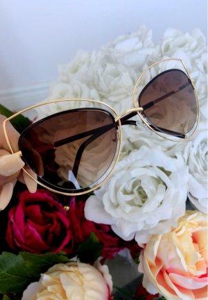 XL Sonnenbrille gold, getönte Gläser#BloggerBrille#retroglasses#cateye