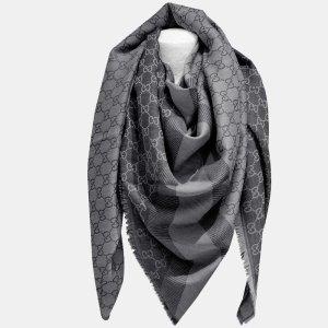 Gucci Bufanda de lana gris oscuro Lana
