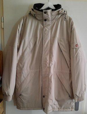 XL Winter Jacke mit Kapuze Wellenstein creme beige