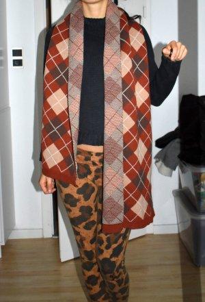 Wollen sjaal bruin-cognac Wol