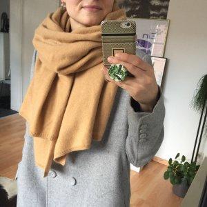 XL Zara Kaschmir Schal beige camel Cashmere Blend Premium